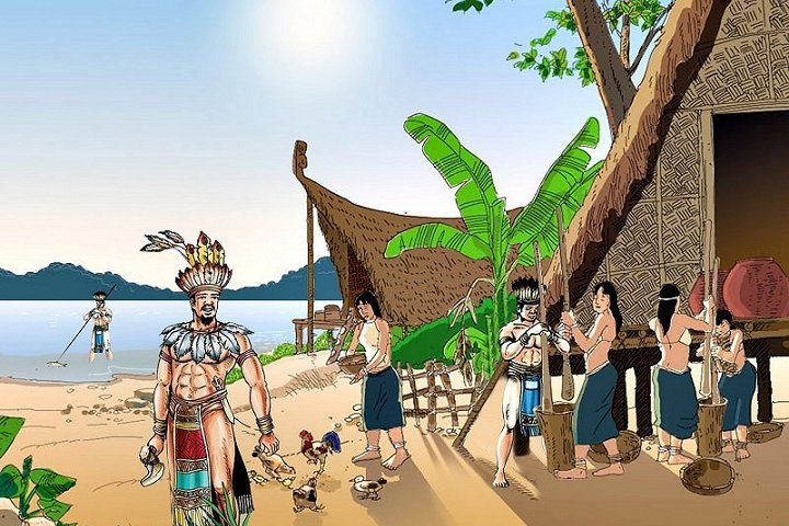 Lạc Long Quân liền rước Âu Cơ về núi Long Trang