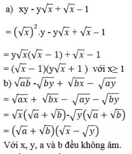 toán 9 bài ôn tập chương 1 đại số
