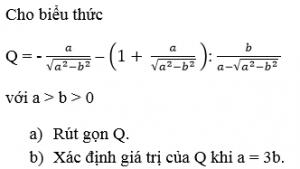 toán 9 ôn tập chương 1 đại số